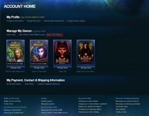 Battle.net Account Home